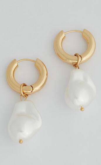 KENZO HOOP EARRINGS in Gold