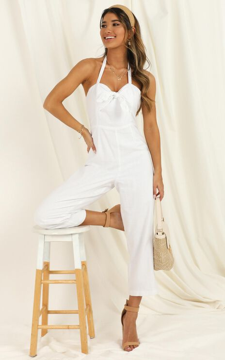 Fair Judgement Jumpsuit In White