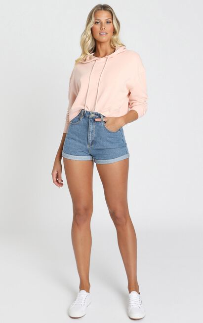 Abrand - A High Relaxed Denim Shorts in la blues - 6 (XS), Blue, hi-res image number null