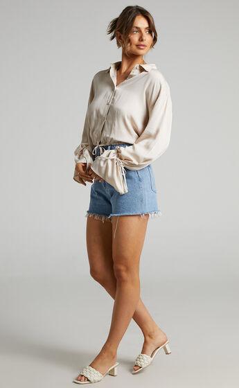 Wanda Button up Shirt in Beige