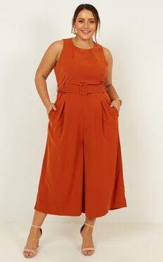 Goal Achiever Jumpsuit  In Rust
