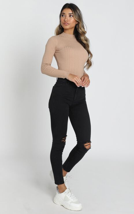 Abrand - A High Skinny Ankle Basher Jeans in Buster Black