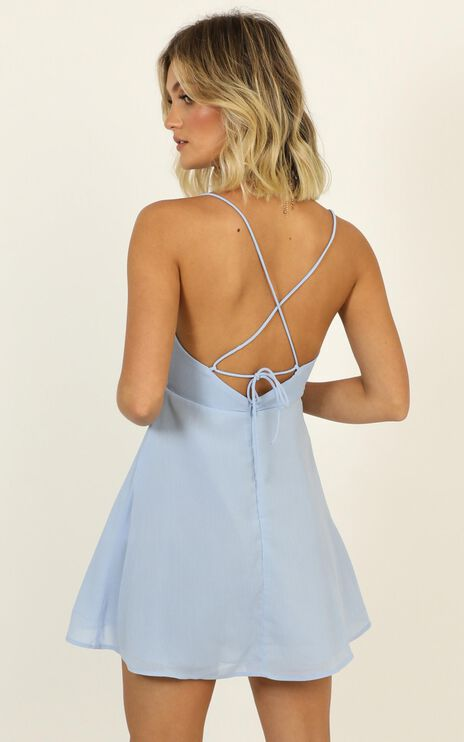 Ill Give You All The Love Dress In Pale Blue