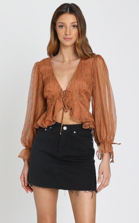 Orlaith Top in Caramel