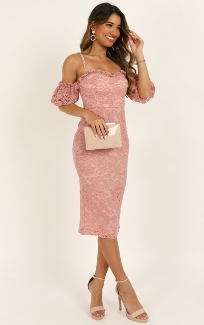 The Magic Touch Dress in dusty rose lace - 20 (XXXXL), Pink, hi-res image number null