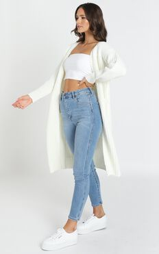Never Giving Up Knit Cardigan In White