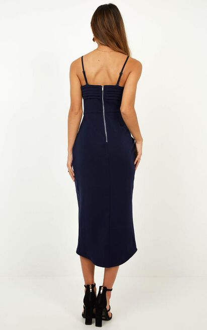 Give Me Attention Dress in navy - 12 (L), Navy, hi-res image number null