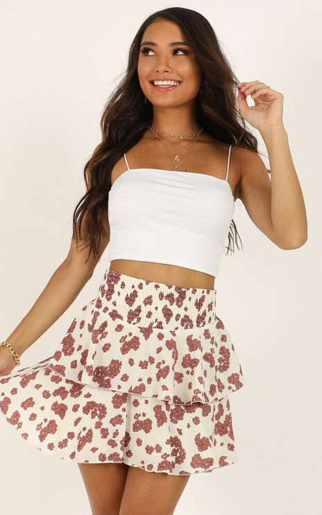 Message To You Skirt In Cream Floral