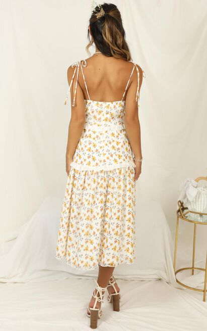 Didnt Know Dress in white floral - 20 (XXXXL), White, hi-res image number null
