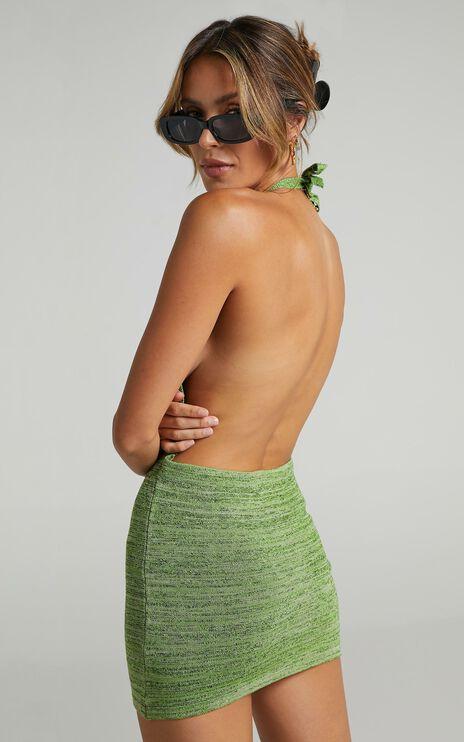 Cordie Dress in Green Space Dye