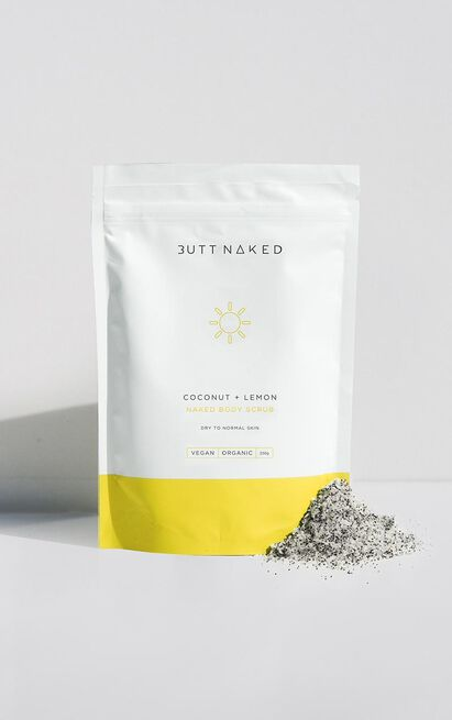 Butt Naked - Coconut + Lemon Body Scrub 250g , Yellow, hi-res image number null