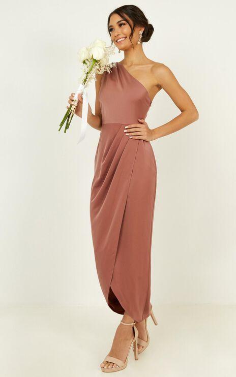 Felt So Happy Dress In Dusty Rose