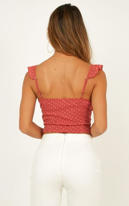 Wouldnt Be Fair Top in rose dobby  - 20 (XXXXL), Pink, hi-res image number null