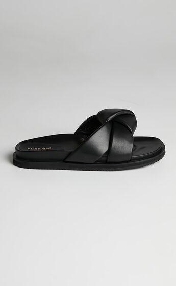 Alias Mae - Sofia Slides in Black Leather
