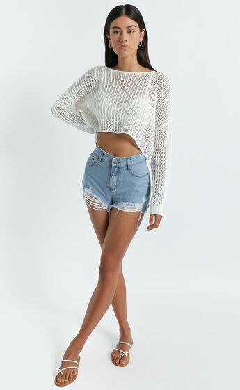 Morgana Knit Top in White