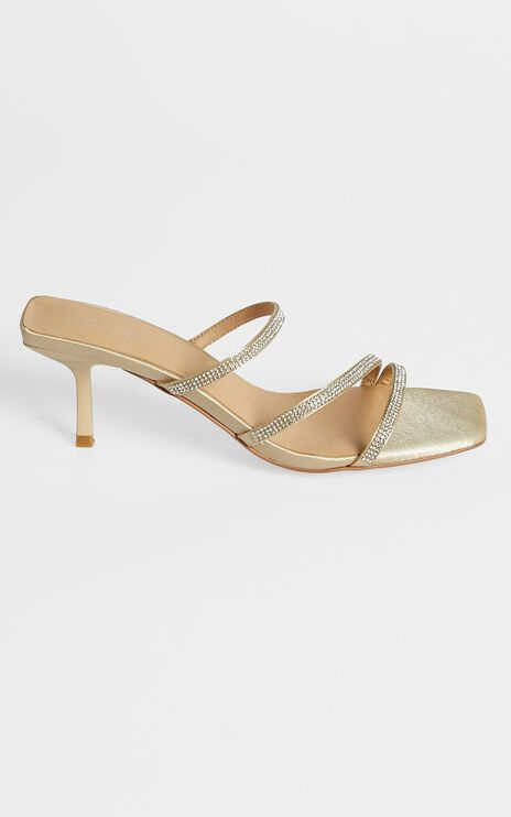 Therapy - Dazzle Heels in Champagne Satin