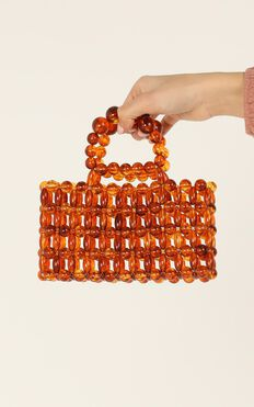 Figured It Out Beaded Bag In Tort