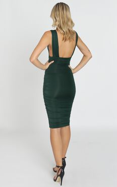 Bring It All Dress In Emerald Green