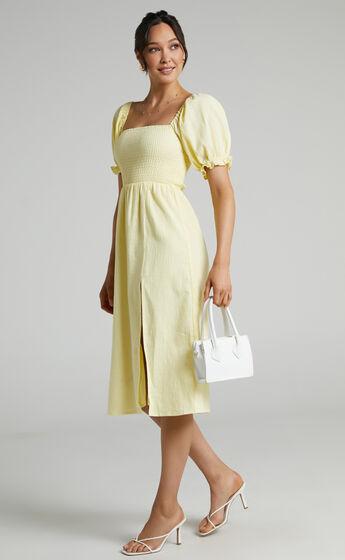 Seven Wonders - Brinley Midi Dress in Lemon