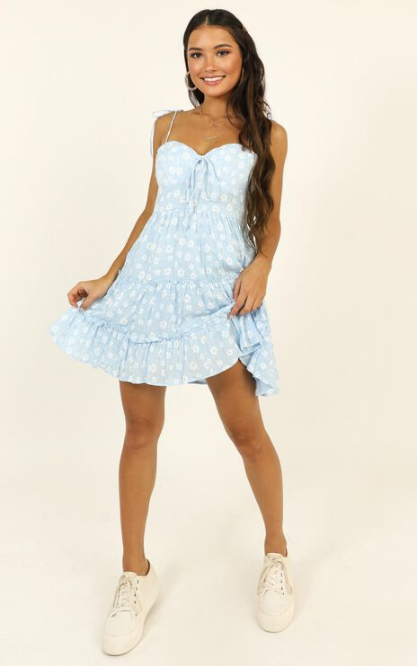 Learning Everyday Dress In Blue Floral