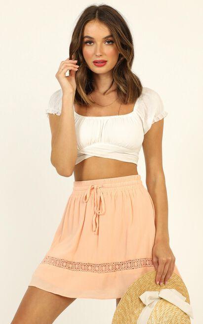 Let Summer Begin skirt in peach - 20 (XXXXL), Pink, hi-res image number null