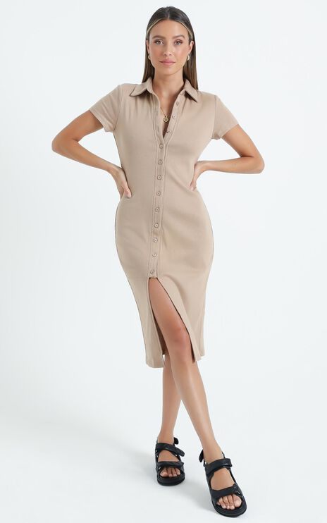 Minerva Dress in Beige