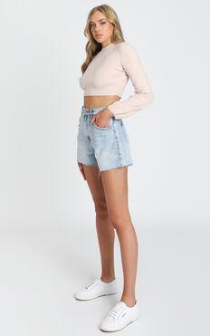 Nelli Cropped Knit Jumper in Blush