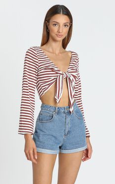Elixir Top in Red and White Stripe