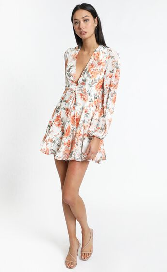 Delano Dress in Orange Floral