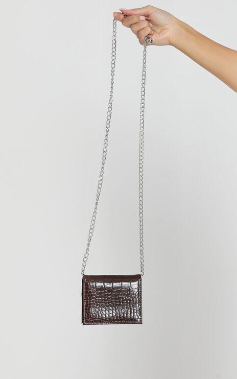 Bella Mini Bag In Choc Croc