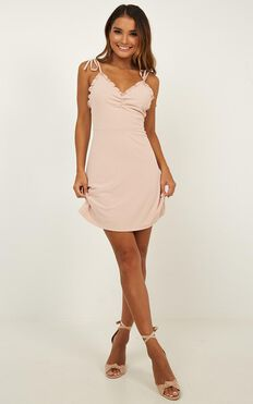 Bring It Out Dress In Blush