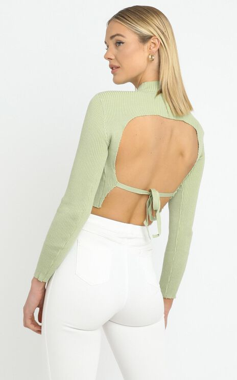 Portia Knit Top in Sage