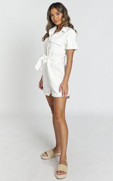 Kade Playsuit In White