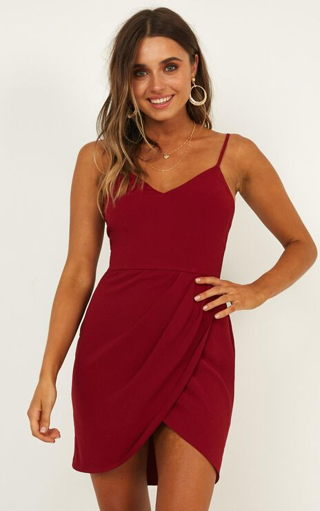 Good To Be Alone Dress in Wine