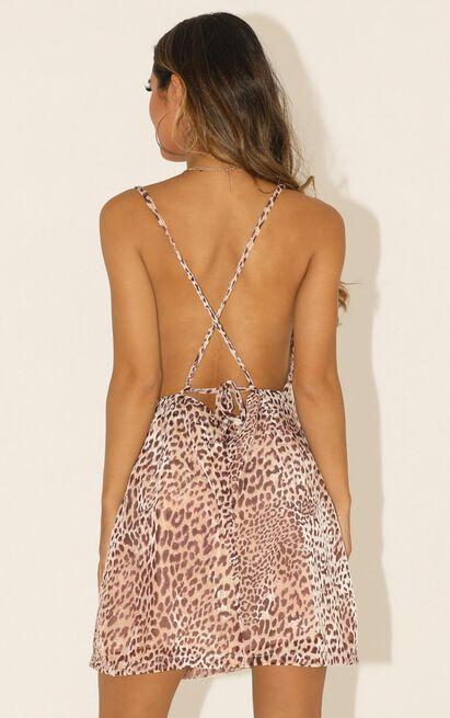 Never Lie dress in  leopard print - 12 (L), Brown, hi-res image number null