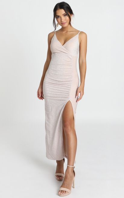 Susannah Dress in champagne shimmer - 14 (XL), Beige, hi-res image number null