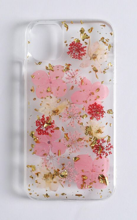 Summer Floral Pressed Flower iPhone Case In Pink