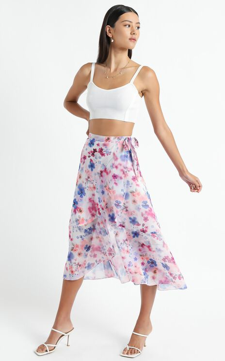 Add To The Mix Skirt in Blur Floral