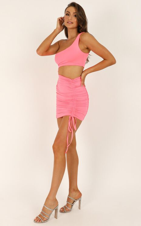 Strong Enough Dress In Hot Pink