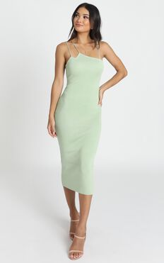 Alive At Midnight Dress In Sage