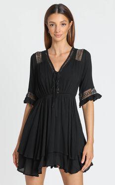 Rise Again Dress in Black