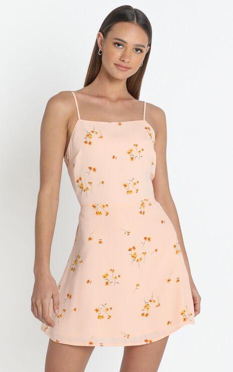 Ramona Dress in peach