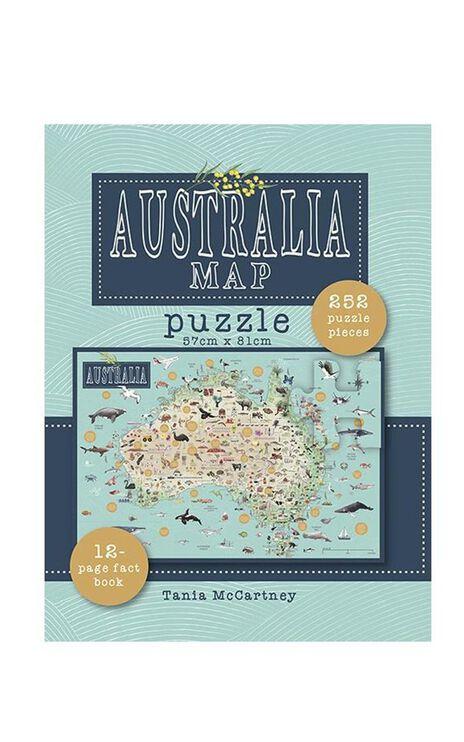 Australia Map Puzzle Blue