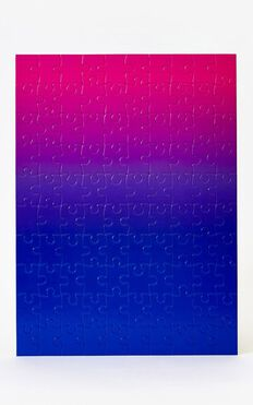 Areaware - Gradient Jigsaw Puzzle In Blue Pink