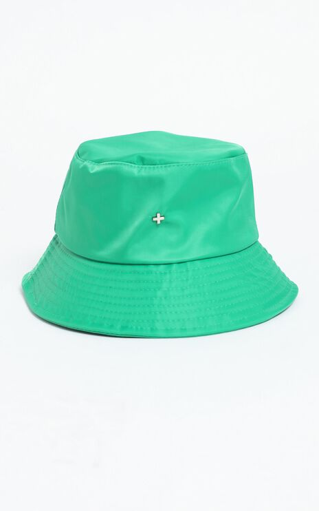 Peta and Jain - Bae Bucket Hat in Green Nylon
