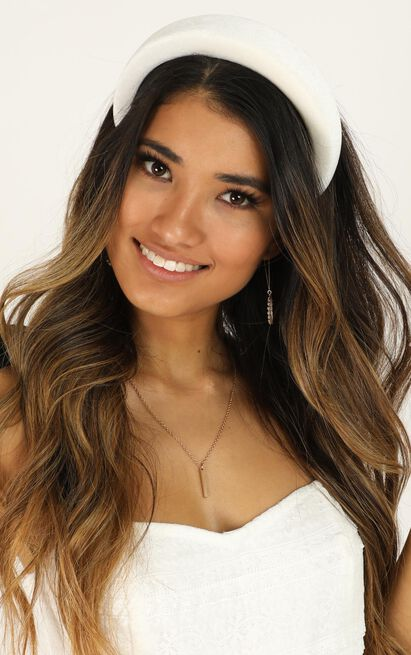 One Thought Away Headband In White, White, hi-res image number null