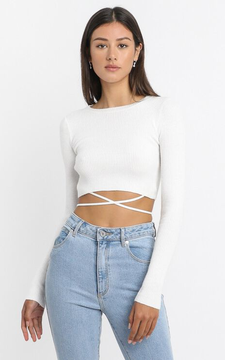 Drystan Knit Top in White