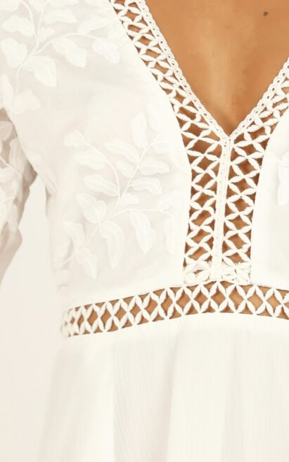 Stop Pretending Dress In White - 16 (XXL), White, hi-res image number null
