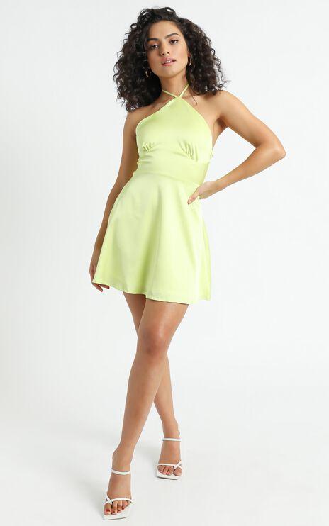 Nerolia Dress in Lime Green