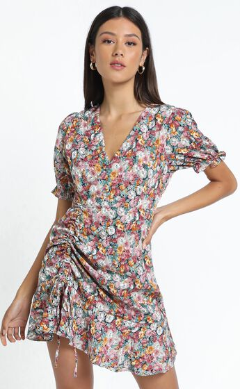 Saunders Dress in Multi Floral